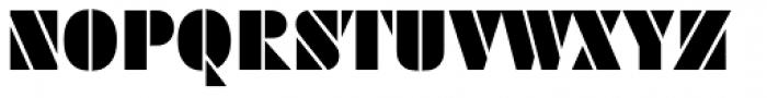 Futura Black Stencil D Font UPPERCASE