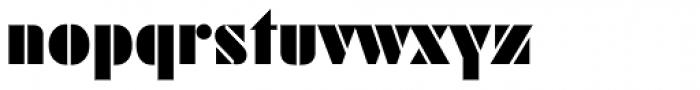 Futura Black Font LOWERCASE