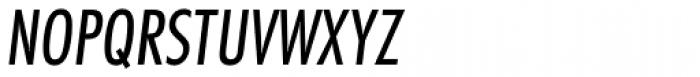 Futura Cond Book Oblique Font UPPERCASE