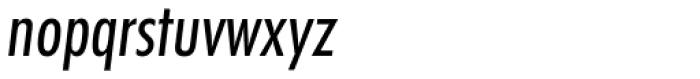 Futura Cond Book Oblique Font LOWERCASE