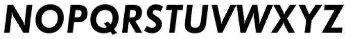 Futura Demi Oblique Font UPPERCASE