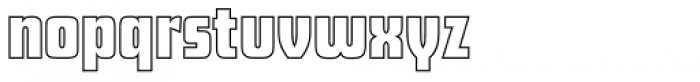 Futura Display Outline P Font LOWERCASE