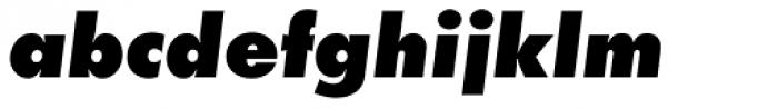 Futura EF ExtraBold Oblique Font LOWERCASE