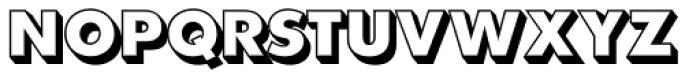 Futura EF ExtraBold Shadowed Font UPPERCASE