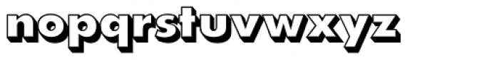 Futura EF ExtraBold Shadowed Font LOWERCASE