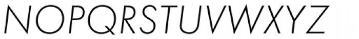 Futura EF Light Oblique Font UPPERCASE