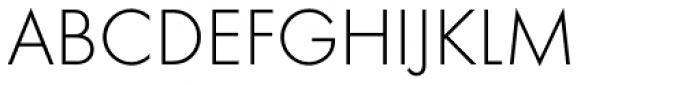 Futura EF Light Font UPPERCASE