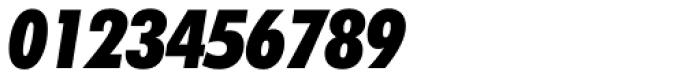 Futura ExtraBlack Condensed Italic Font OTHER CHARS