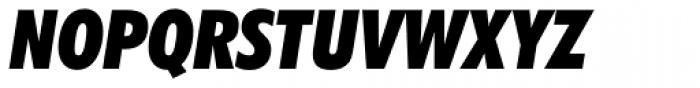 Futura ExtraBlack Condensed Italic Font UPPERCASE