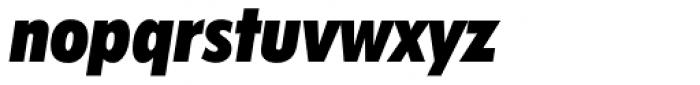 Futura ExtraBlack Condensed Italic Font LOWERCASE