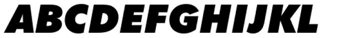 Futura ExtraBlack Italic Font UPPERCASE
