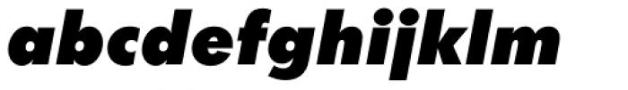 Futura ExtraBlack Italic Font LOWERCASE