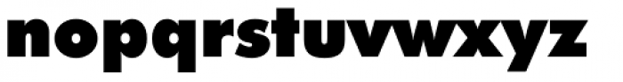 Futura ExtraBlack Font LOWERCASE