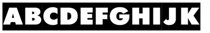 Futura Futuris X Cameo Font UPPERCASE