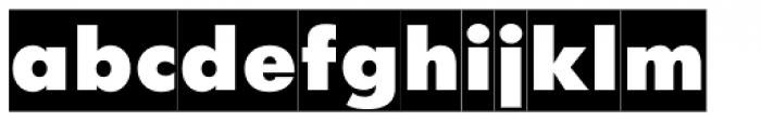 Futura Futuris X Cameo Font LOWERCASE