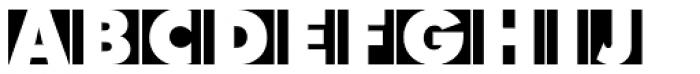 Futura Initials D ExtraBold Font UPPERCASE