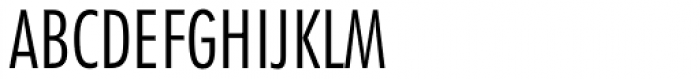 Futura Light Condensed Font UPPERCASE