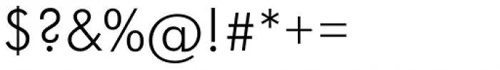 Futura Light Font OTHER CHARS