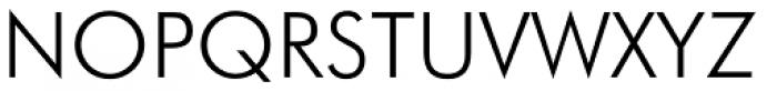 Futura Light Font UPPERCASE