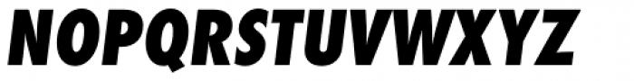 Futura ND Alt Cond ExtraBold Oblique Font UPPERCASE
