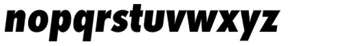 Futura ND Alt Cond ExtraBold Oblique Font LOWERCASE