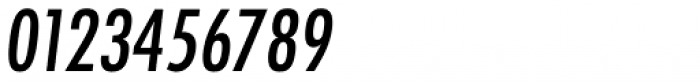 Futura ND Alt Cond Medium Oblique Font OTHER CHARS
