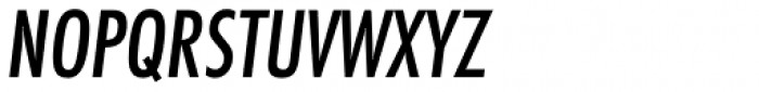 Futura ND Alt Cond Medium Oblique Font UPPERCASE