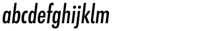 Futura ND Alt Cond Medium Oblique Font LOWERCASE