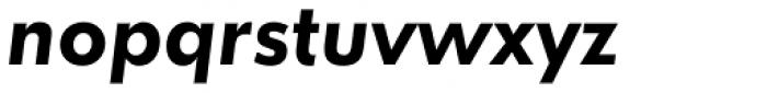 Futura ND Alt DemiBold Oblique Font LOWERCASE