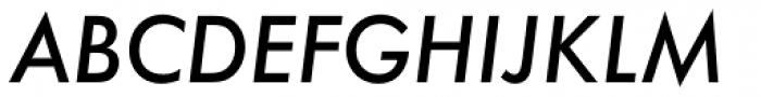 Futura ND Alt Medium Oblique Font UPPERCASE
