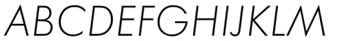 Futura ND Light Oblique Font UPPERCASE