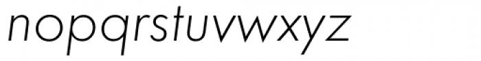 Futura ND Light Oblique Font LOWERCASE