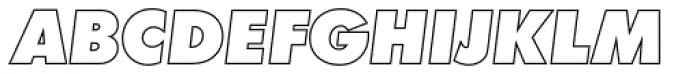 Futura Outline P ExtraBold Oblique Font UPPERCASE