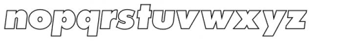 Futura Outline P ExtraBold Oblique Font LOWERCASE