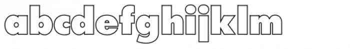 Futura Outline P ExtraBold Font LOWERCASE