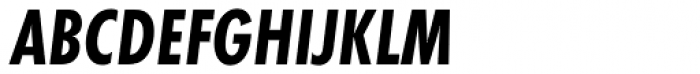 Futura PT Cond Bold Oblique Font UPPERCASE