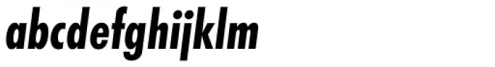 Futura PT Cond Bold Oblique Font LOWERCASE
