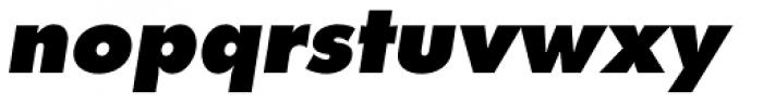 Futura Pro ExtraBold Oblique Font LOWERCASE
