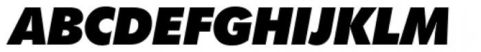 Futura SB ExtraBold Italic Font UPPERCASE