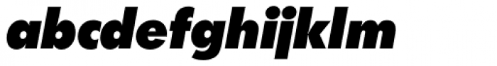 Futura SB ExtraBold Italic Font LOWERCASE