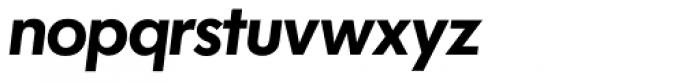 Futura SH DemiBold Italic Font LOWERCASE