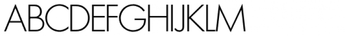 Futura SH ExtraLight Font UPPERCASE