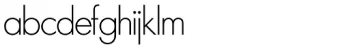 Futura SH ExtraLight Font LOWERCASE