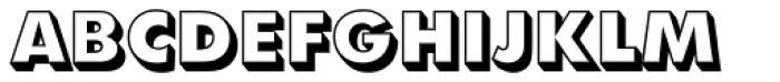 Futura Shadowed ExtraBold Font UPPERCASE