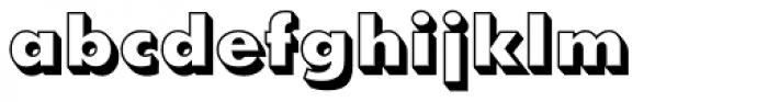 Futura Shadowed ExtraBold Font LOWERCASE