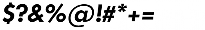 Futura TS DemiBold Italic Font OTHER CHARS