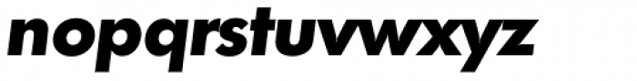 Futura TS ExtraBold Italic Font LOWERCASE
