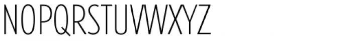 Futura TS ExtraLight Cond Font UPPERCASE