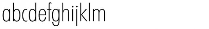 Futura TS ExtraLight Cond Font LOWERCASE