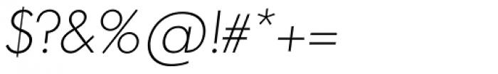 Futura TS ExtraLight Italic Font OTHER CHARS